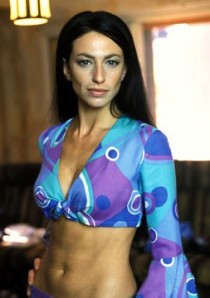 Claudia Black abs